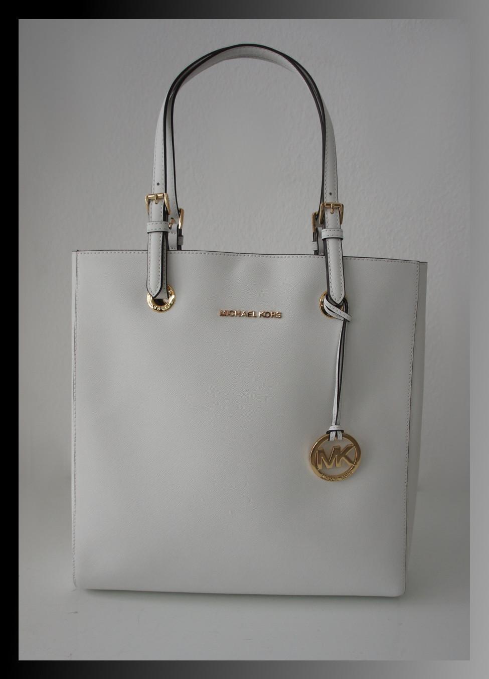 michael kors leder gro e tasche saffiano handtasche weiss neu ebay. Black Bedroom Furniture Sets. Home Design Ideas
